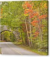 Stone Arch Bridge In Acadia National Park Canvas Print