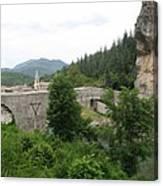 Stone Arch Bridge Over River Verdon Canvas Print