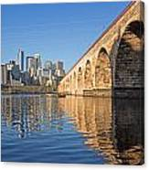 Stone Arch By Day Canvas Print