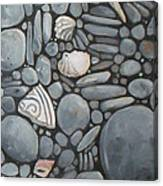 Stone Beach Keepsake Rocky Beach Shells And Stones Canvas Print