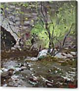 Stone Bridge At Three Sisters Islands Canvas Print