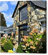 Stone Building In Connecticut Canvas Print