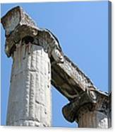 Stone Carved Columns At The Temple Of Aphrodite  Canvas Print
