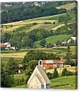 Stone Church In Green Nature Canvas Print