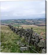 Old Dry Stacked Stone Fence Of Scotland Canvas Print