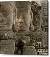 Stone Figures Cambodia Canvas Print