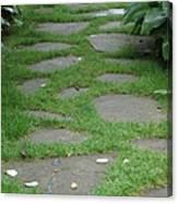Stone Garden Walkway Canvas Print