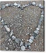 Stone Heart Canvas Print