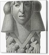 Stone Idol Of The Rain God Cocijo Canvas Print