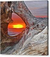 Stone Lagoon Sunset Canvas Print