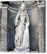 Stone Nun Canvas Print