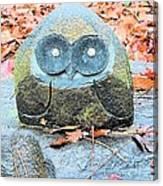 Stone Owl Canvas Print