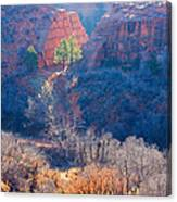 Stone Quarry At Red Rocks Open Space Canvas Print