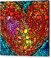 Stone Rock'd Heart - Colorful Love From Sharon Cummings Canvas Print