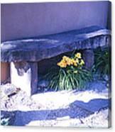 Stone Slab Bench 1 Canvas Print