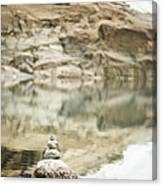 Stone Stack Pool Canvas Print