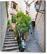 Stone Streets Of Old Trogir Canvas Print