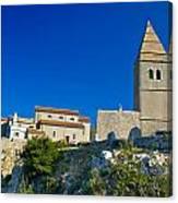 Stone Town Of Lubenice In Croatia Canvas Print