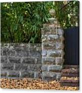 Stone Wall And Gate Canvas Print