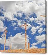 Stone Wind Mills Canvas Print