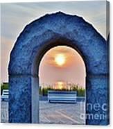 Sunrise Through The Arch - Rehoboth Beach Delaware Canvas Print