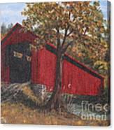 Stonelick Williams Corner Covered Bridge Clermont County Ohio 2 Canvas Print