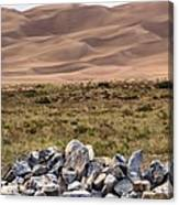Stones And Sand Canvas Print
