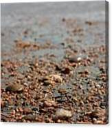 Stones And Waves At Beach  Canvas Print