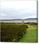 Stones In Arc Of Ring Of Brodgar Canvas Print