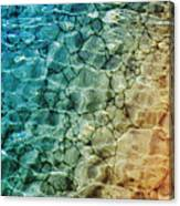 Stones In The Sea Canvas Print