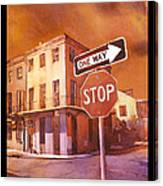 Stop- French Quarter Ahead Canvas Print
