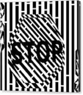 Stop Sign Maze Canvas Print