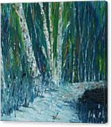 Stopping By Woods On A Snowy Evening Canvas Print