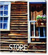 Storefront Rustic Canvas Print