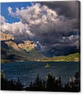 Storm Above St. Mary Lake Canvas Print