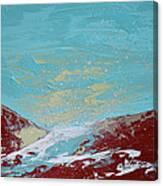 Storm At Red Rock Ridge Canvas Print