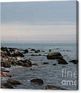 Storm At Sea In Rhode Island Canvas Print