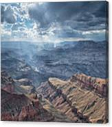 Storm At The Canyon Canvas Print
