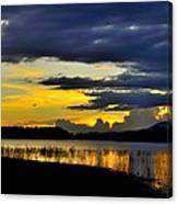 Storm At The Lake Canvas Print