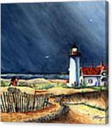 Storm At The Point Canvas Print