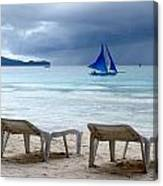 Stormy Beach - Boracay, Philippines Canvas Print