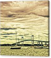Storm Brewing In Newport Canvas Print