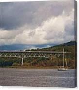 Storm Brewing Over Rip Van Winkle Bridge Canvas Print