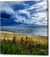 Storm Clouds In Door County Canvas Print