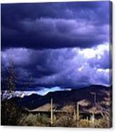 Storm Clouds In The Desert Canvas Print