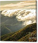 Storm Clouds Moving Out On The Blue Ridge Canvas Print
