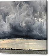 Storm Clouds Over Charleston South Carolina Canvas Print