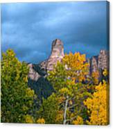 Storm Clouds Over Chimney Rock Canvas Print