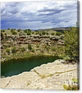 Storm Clouds Over Montezuma Well Canvas Print
