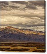 Storm Clouds Over Snowy Peaks #2 Canvas Print